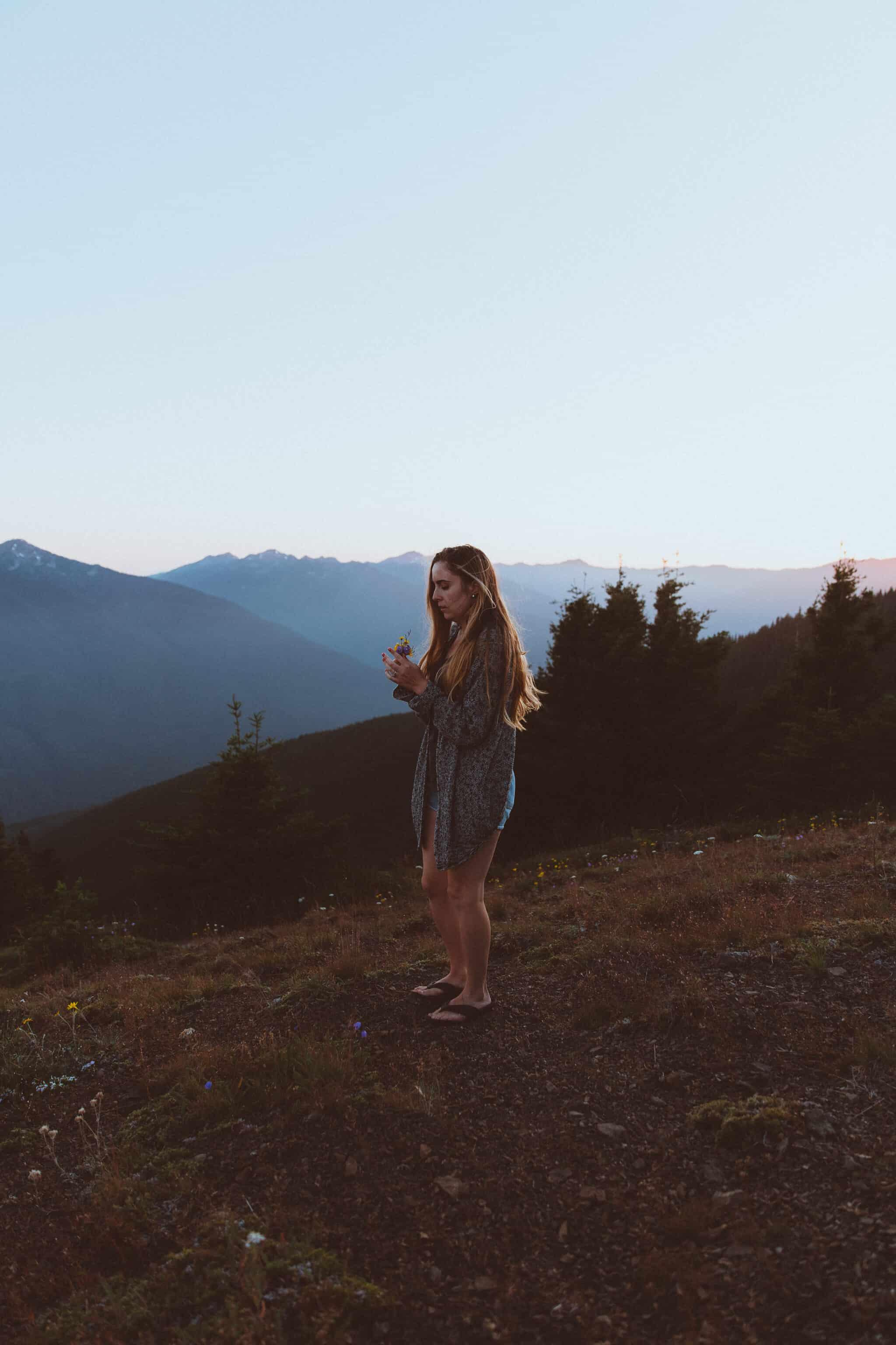 Olympic Peninsula Road Trip - Emily at Hurricane Ridge