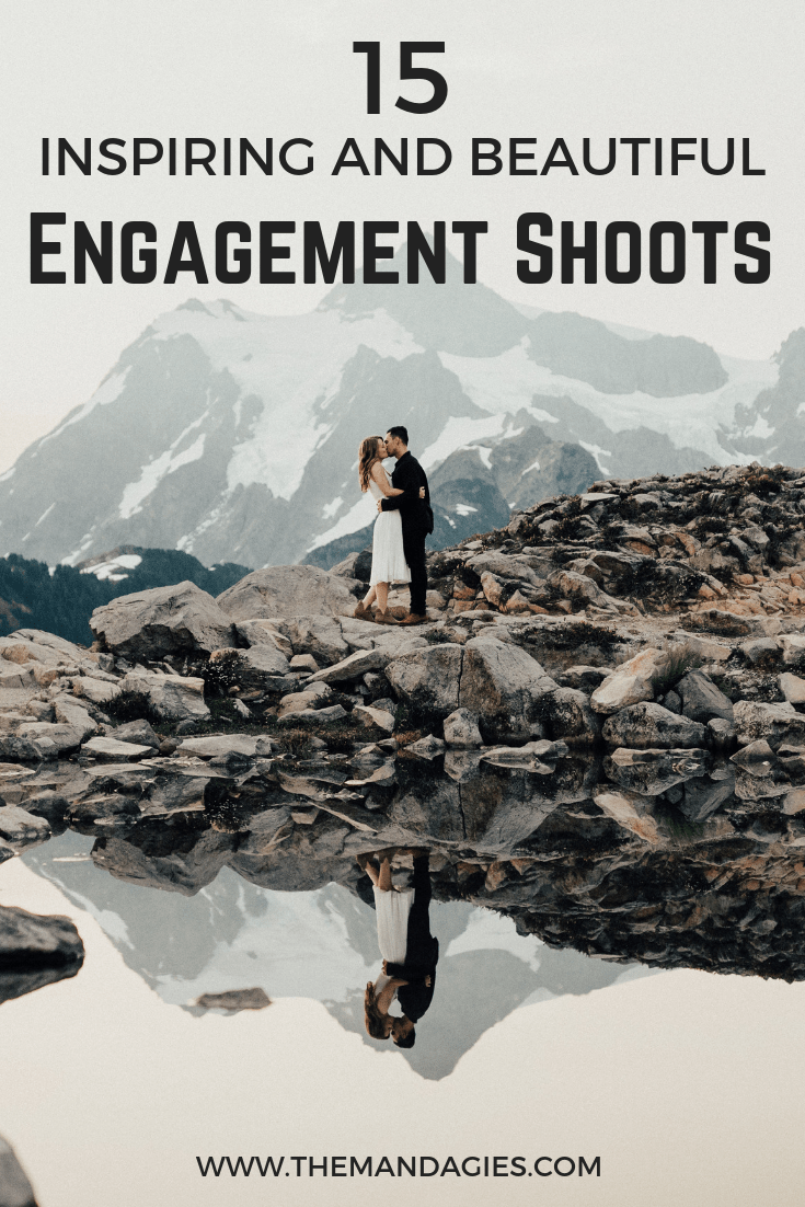 Find the most inspirational places for your next PNW Engagement shoot. We're sharing gorgeous mountains, stunning landscapes, and turquoise lakes in this marriage related post! #wedding #proposal #engagement #prewedding #pictures #couples #couplesphotography #junebug #photo #washington