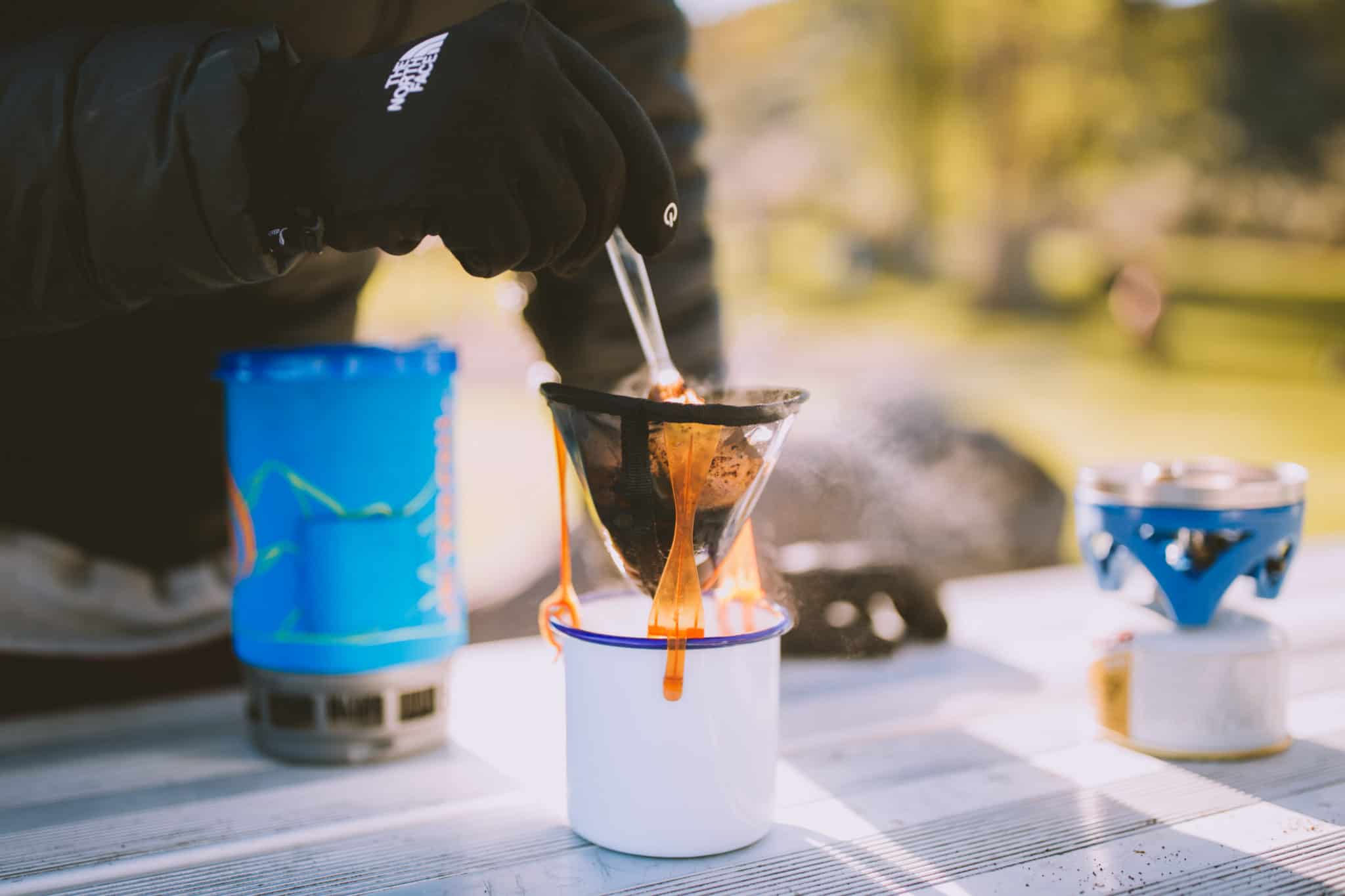 Car Camping Hack - Preparing Coffee On The Road