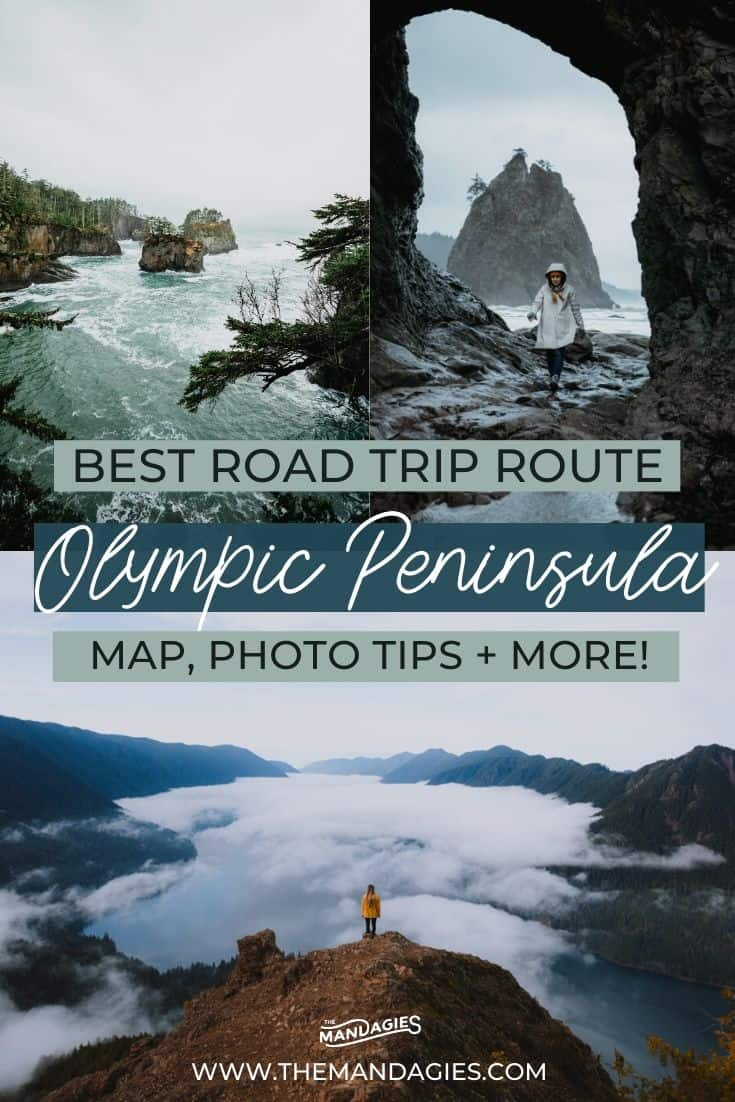 Looking for the best road trip around the Olympic National Park in Washington? Look no further! We're sharing the best Olympic Peninsula road trip route, including Cape Flattery, La Push Beach, the Hoh Rainforest, and so much more! Save this post for your next trip to Washington State! #olympicnationalpark #Washington #PNW #pacificnorthwest #hurricaneridge #hohrainforest #hiking #photography #rainforest