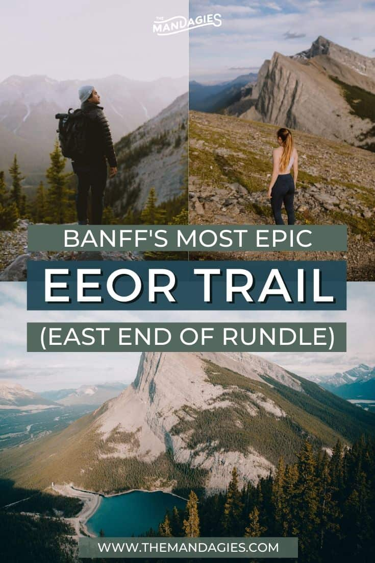 Discover one of the best hikes in Banff National Park - the East End of Rundle Trail! This challenging climb is met with great rewards, with epic views of the Bow Valley and some incredible sunsets! Save this post for your next adventurous trip to the Canadian Rockies! #hiking #EEOR #banff #banffnationalpark #canadianrockies #alberta #EastEndofRundle #canmore #bowvalley #canada