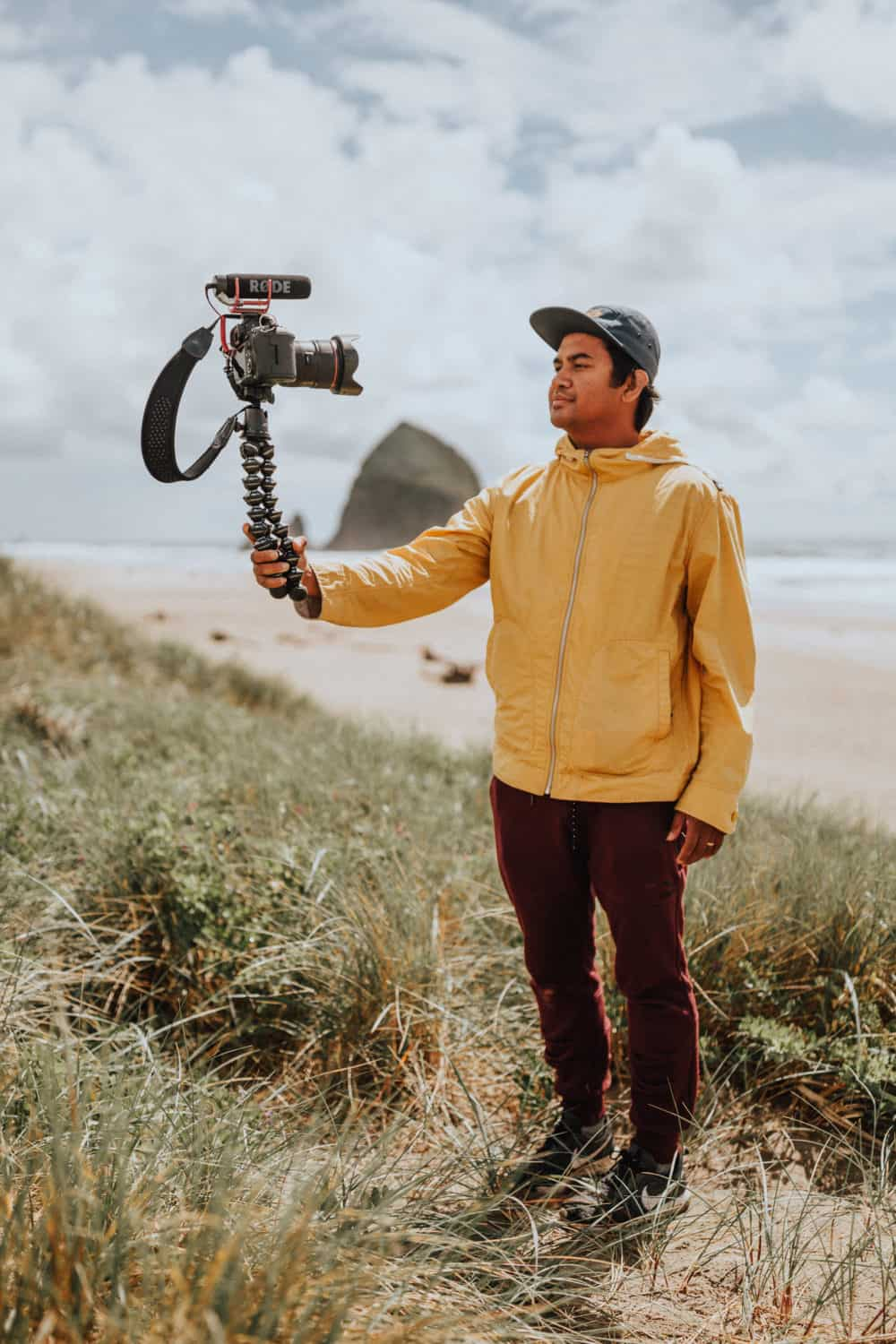 Berty Mandagie using JOBY travel tripod - one of our favorite essential photography accessories!