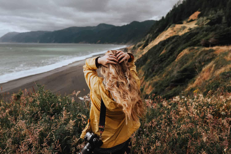 Emily Mandagie on Northern California Coast