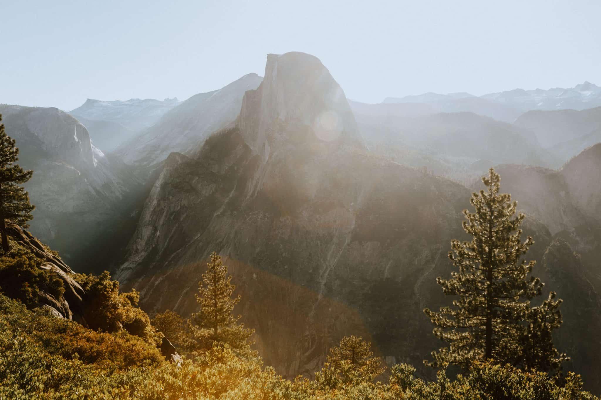 Half Dome at Yosemite - Travel Photography Tips