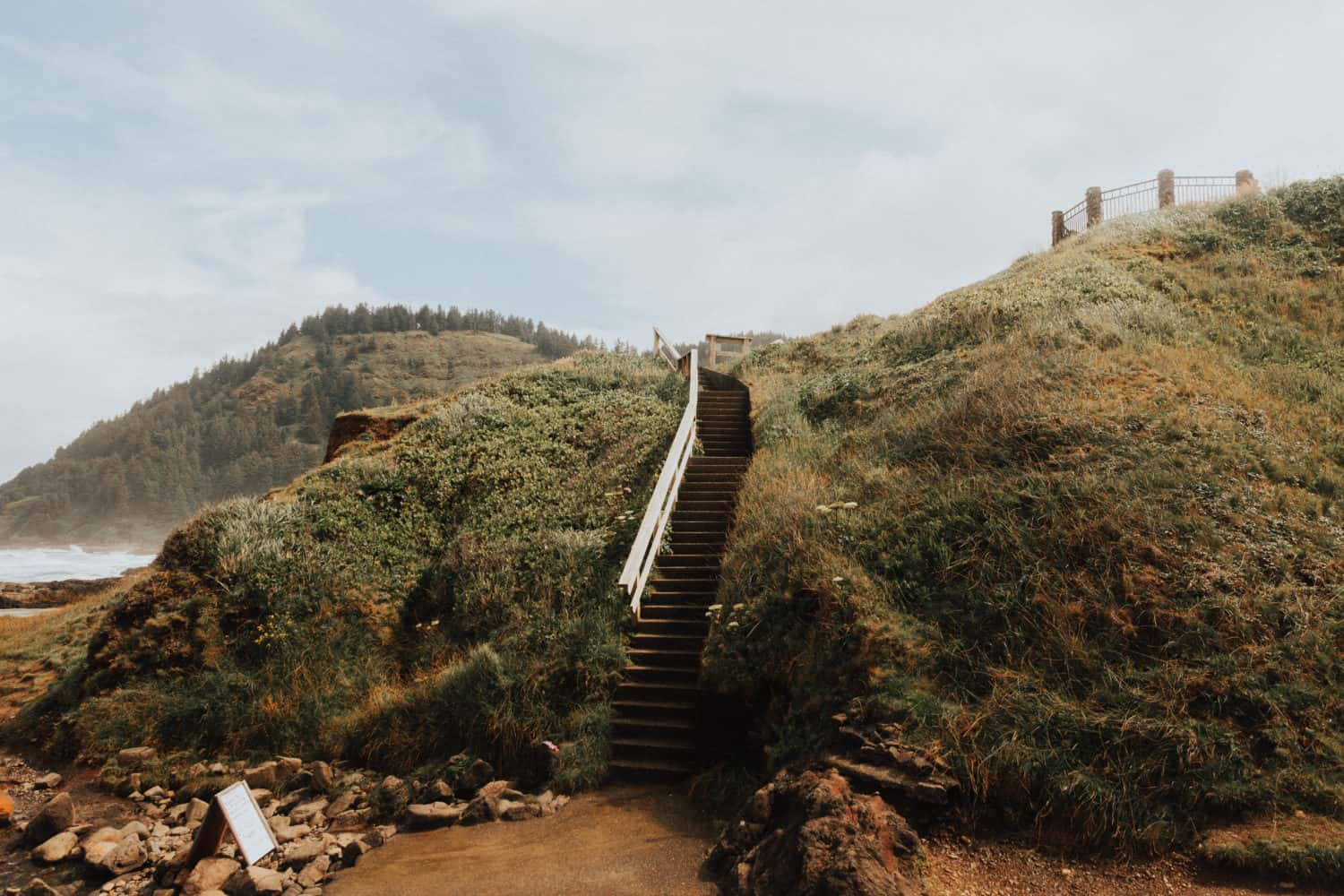 Stairs Down To Cape Perpetua Scenic Area - TheMandagies.com
