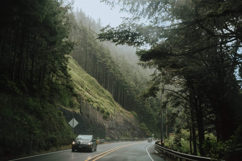 View of the road - Oregon Coast Road Trip - TheMandagies.com