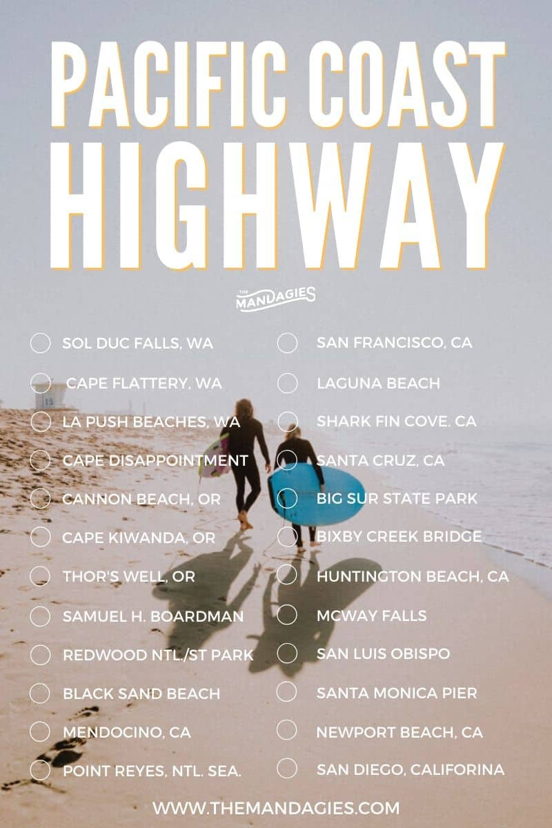 25 Amazing Stops On A 1-Week Pacific Coast Highway Road Trip Itinerary |  The Mandagies