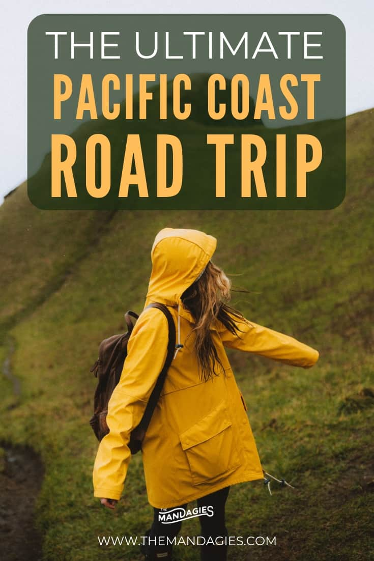The Ultimate Pacific Coast Road Trip Itinerary. From Seattle to San Diego, this trip shows you 25 stops on the Pacific Coast Highway, with things to see, places to stay, and a packing list for your best trip yet! #pacificcoastroadtrip #pacificcoasthighway #californiacoast #highway1 #highway101 #roadtripitierary #westcoast #westcoastroadtrip #washington #oregon #california