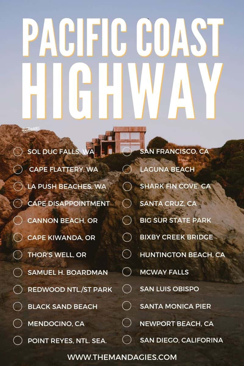 Looking for the best route to take on the Pacific Coast Highway? We're sharing the complete PCH route, including the best stops in Washington, Oregon, and California for the ultimate west coast road trip! #westcoast #PNW #california #oregon #washington #roadtrip #PCH #pacificcoasthighway #Pacificcoastroadtrip