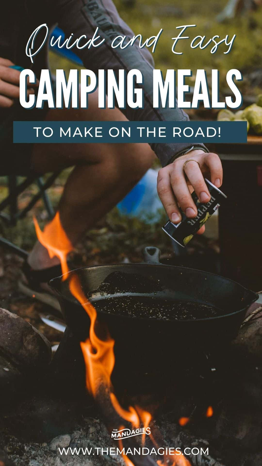 Looking for quick and easy car camping meals to make on the road? We're sharing all the best cooking tools, car camping meals, and tips on how to save money eating out while traveling! Save this post for your next adventurous road trip! #roadtrip #carcamping #campingmeals #campingrecipes #camping #easymeals #quickmeals #campfirerecipes