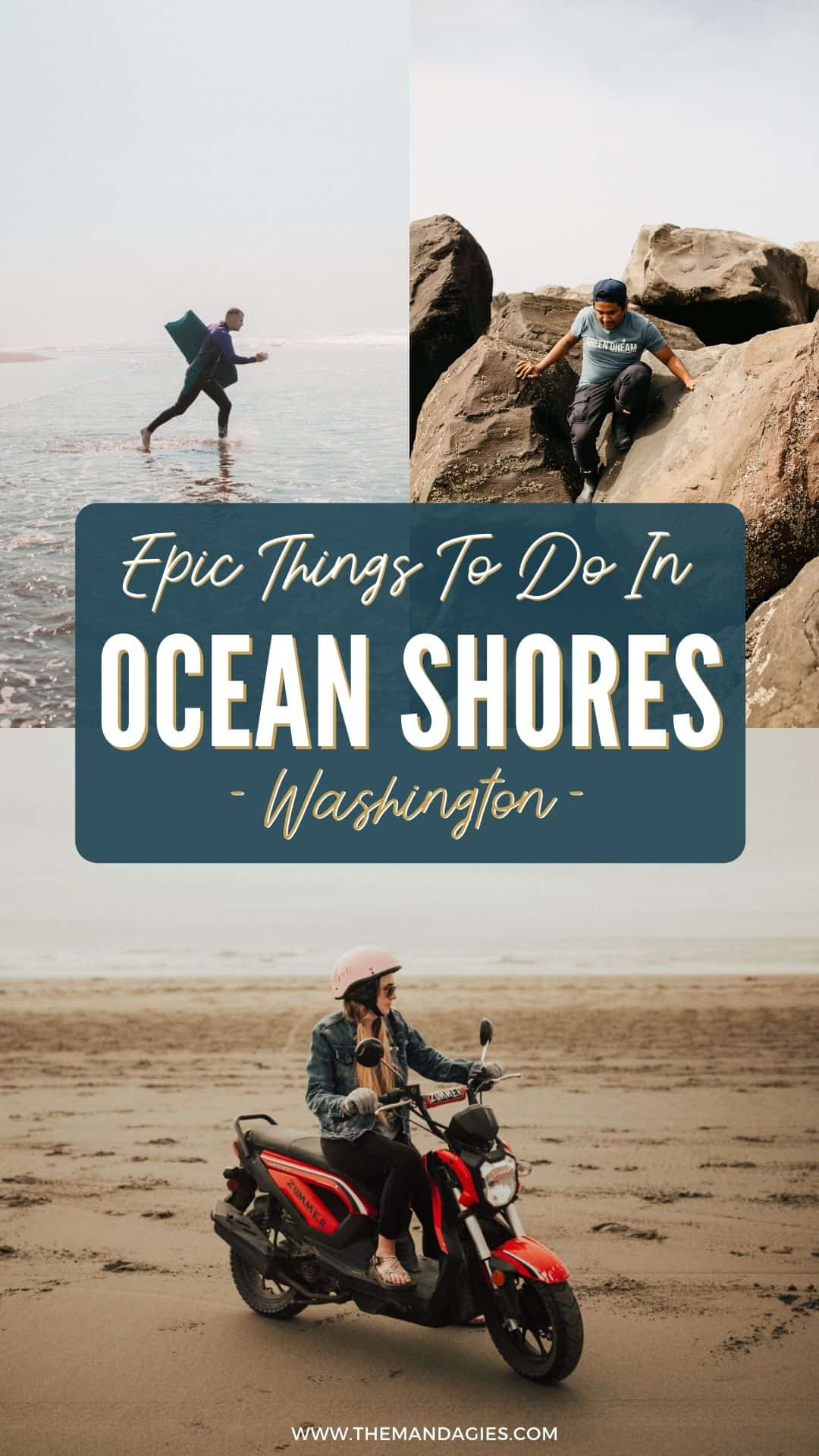 Ready for your next adventure on the Washington Coast? Look no further than Ocean Shores! This awesome town has the perfect combination of fun and relaxation. There are so many things to do in Ocean Shores that are perfect for the entire family! Save this post for your next trip to the Pacific Northwest! #washington #roadtrip #olympicpeninsula #PNW #PacificNorthwest #OceanShores #nature #photography #WashingtonCoast