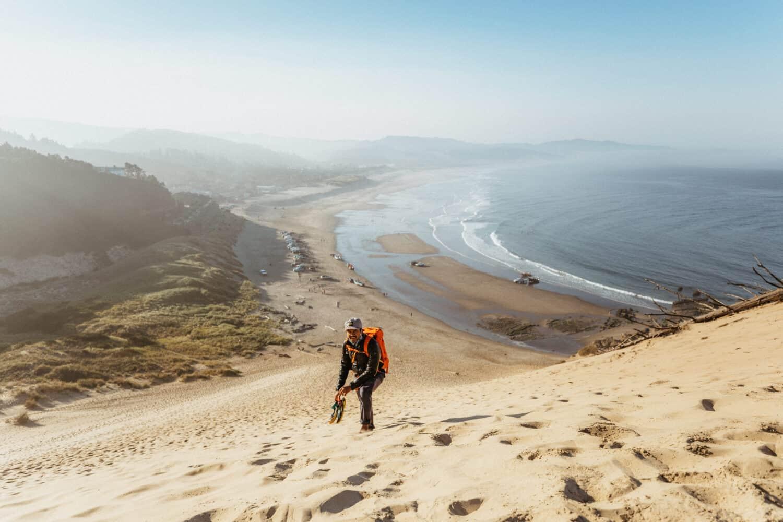 Hiking the Dune at Cape Kiwanda
