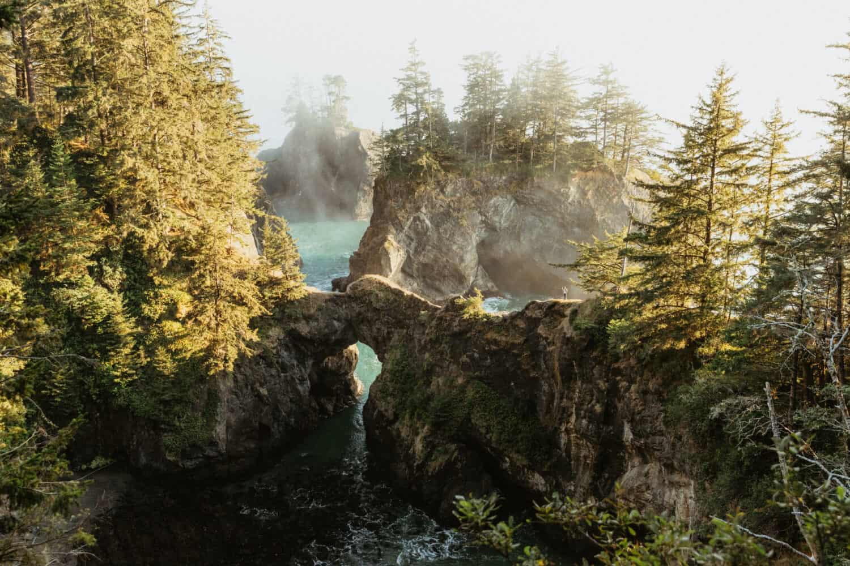 Samuel H Boardman Natural Bridges on the Southern Oregon Coast