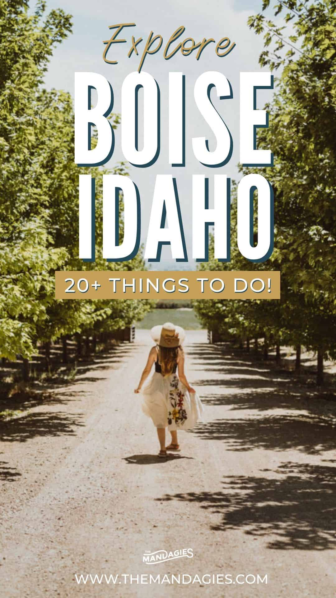 Wondering what cool things do to in Boise, Idaho are? We're sharing the ultimate Boise, Idaho bucket list, complete with restaurants, best hikes, day trips from Boise, and so much more! Save this post for your next epic trip to Boise, Idaho! #boise #idaho #southwestidaho #gemstate #travel #USAtravel #roadtrip #explore #hiking #hotsprings