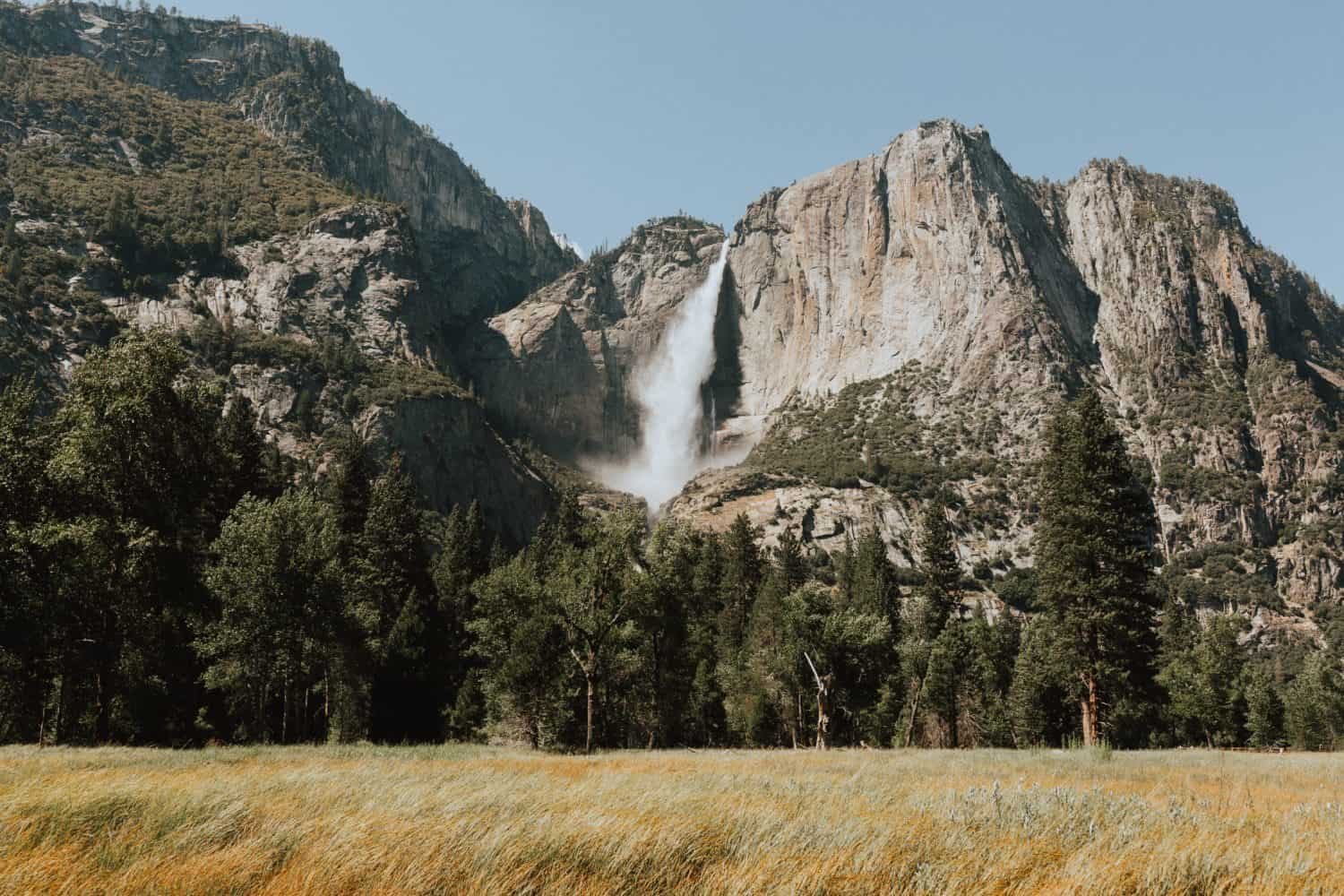 Yosemite Falls View from Cook's Meadow - one Day In Yosemite National Park