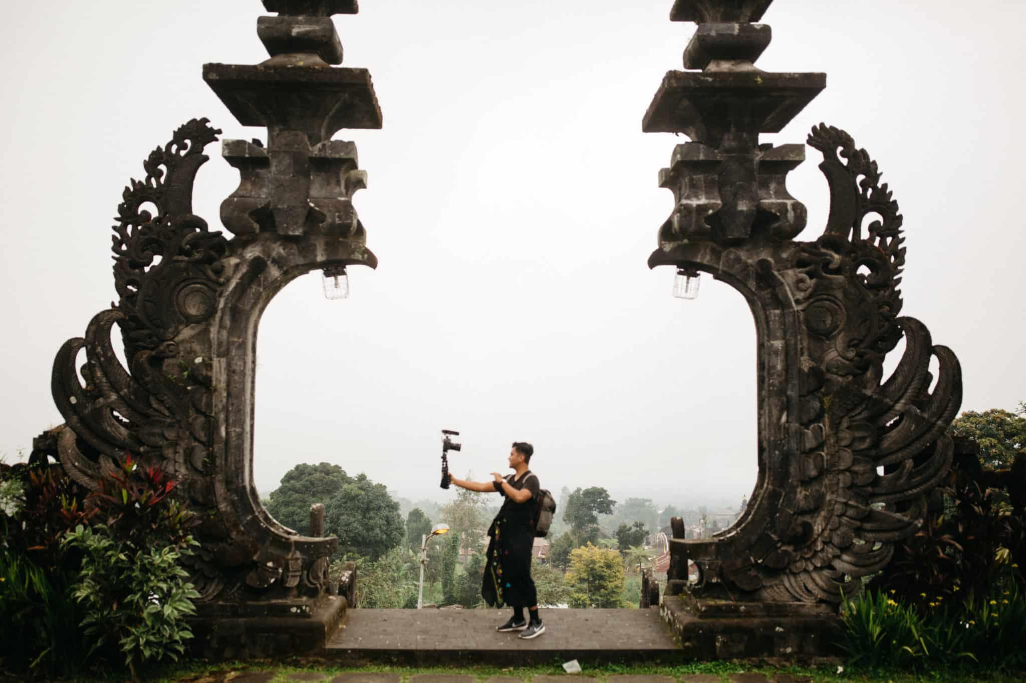 Berty Mandagie at Pura Besakih Temple - Bali, Indonesia - TheMandagies.com