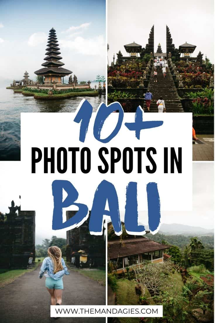 We're spilling all the secrets for the best photo locations in Bali, Indonesia! From beautiful temples, pristine beaches and epic waterfalls, you'll find the perfect Instagram spot in Bali with this guide! #indonesia #bali #instagram #photography #pictures #photos #sunset #waterfall #beach #temple