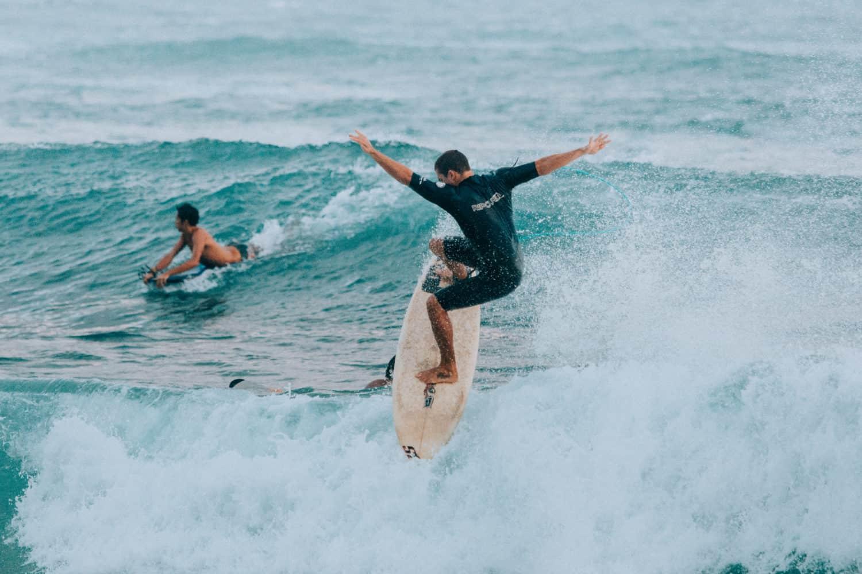 Surfing on Kauai's South Shore Poipu