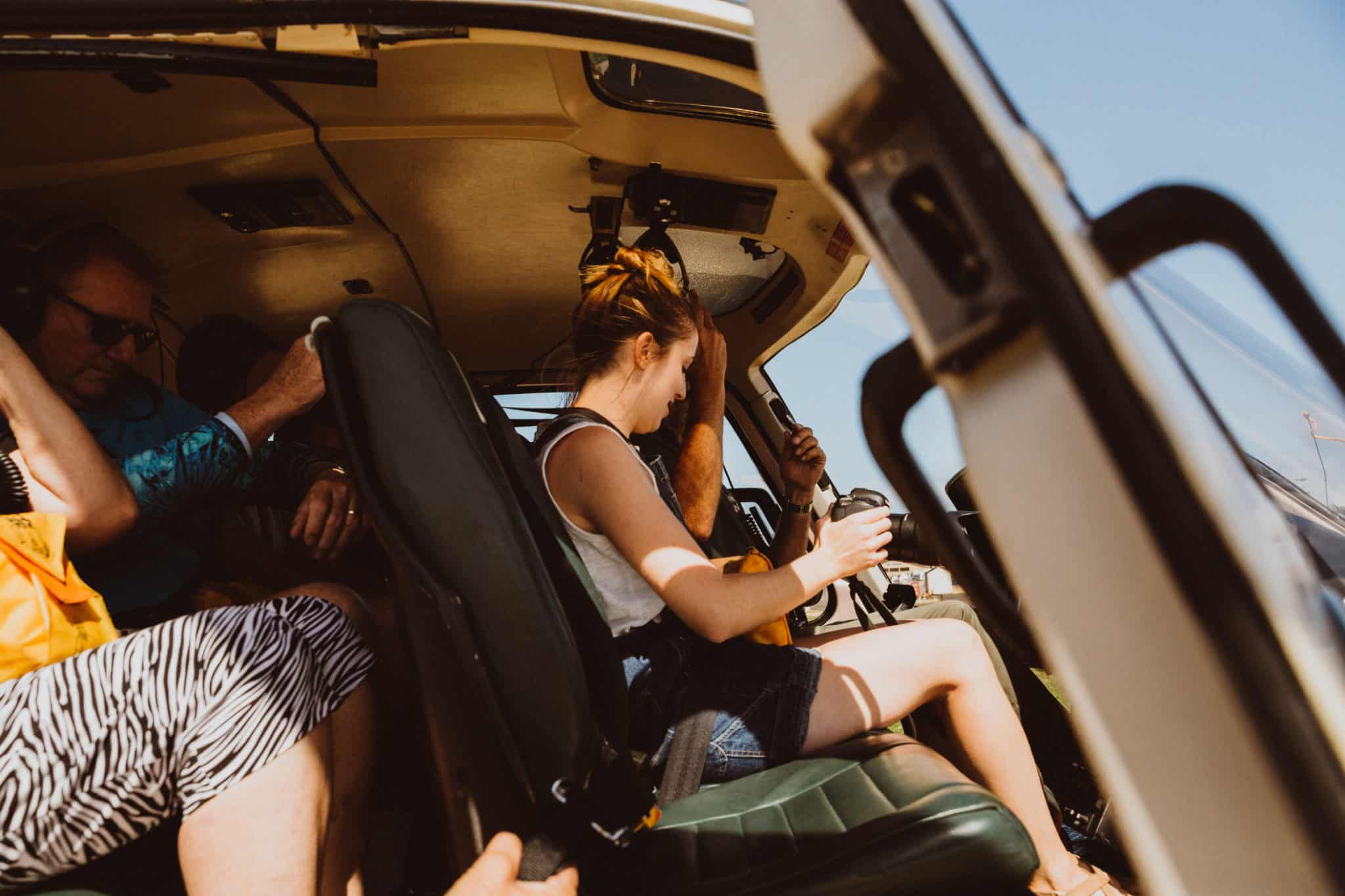 Emily Mandagie boarding the helicopter