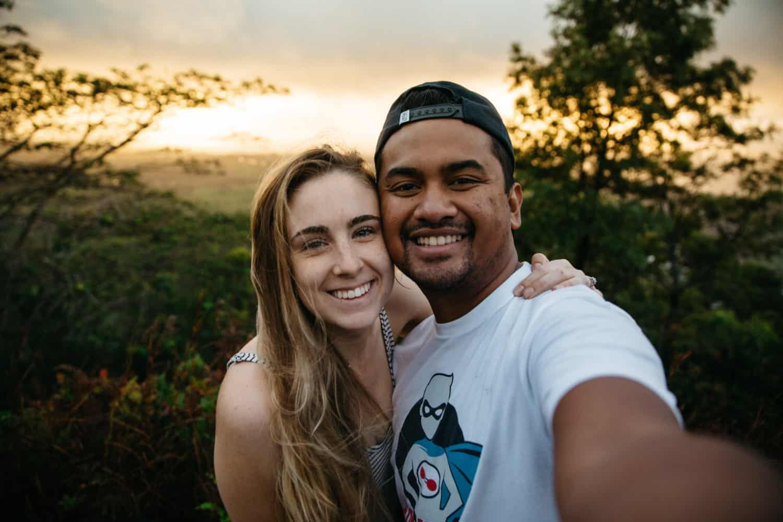 Berty and Emily Mandagie hiking in Kauai, Hawaii - TheMandagies.com