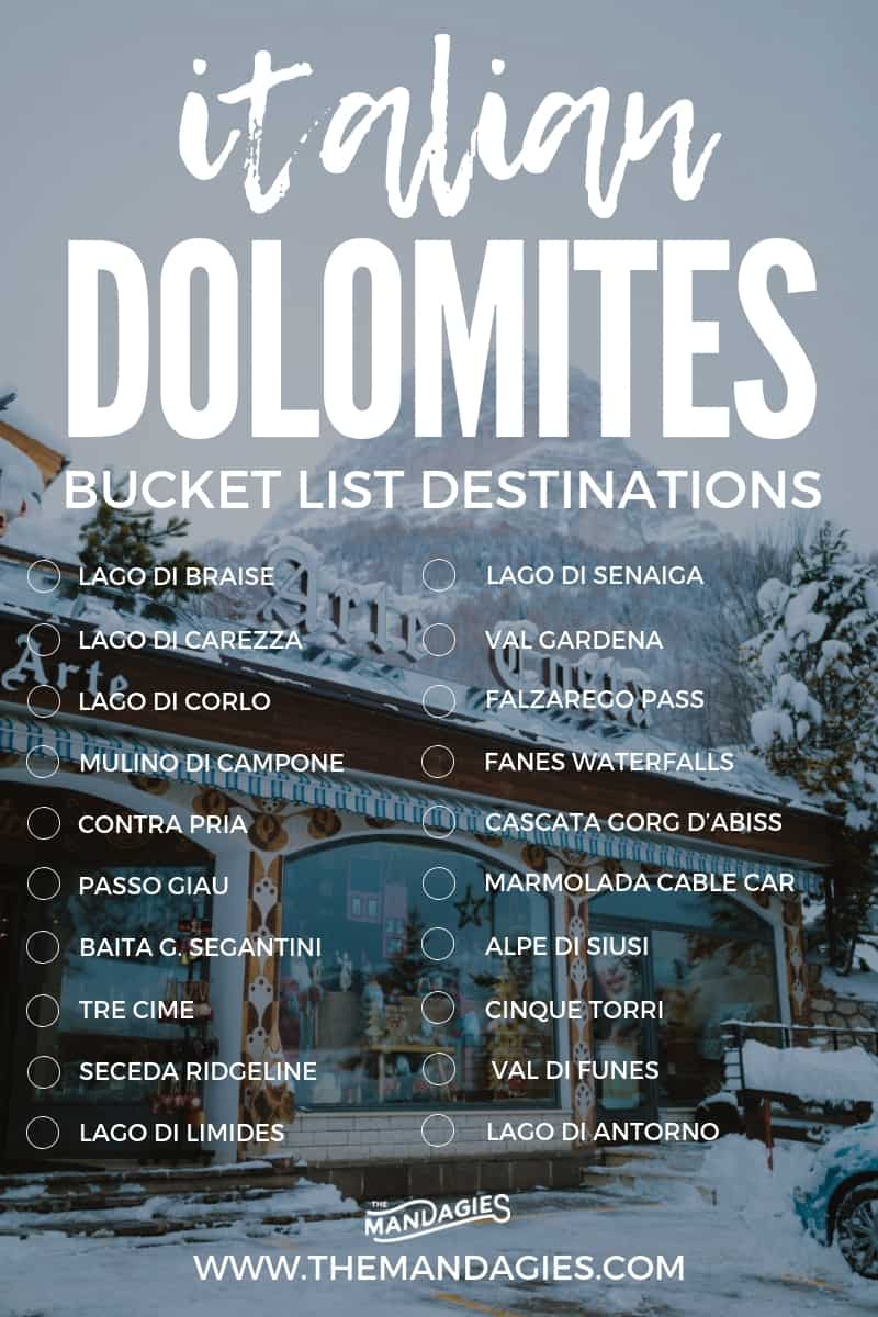 Plan the ultimate trip to the Dolomites in Italy! This Northern Italian mountain range is famous for iconic locations like Lago DI Braise, Tre Cime, and Seneca Ridge. If you are planning a trip to Italy, save this post and don't forget to make an Italian road trip up to The Dolomites, Italy! #italy #dolomites #lagodibraise #trecime #hotels #UNESCO #mountains #hiking #lakes #photography #europe