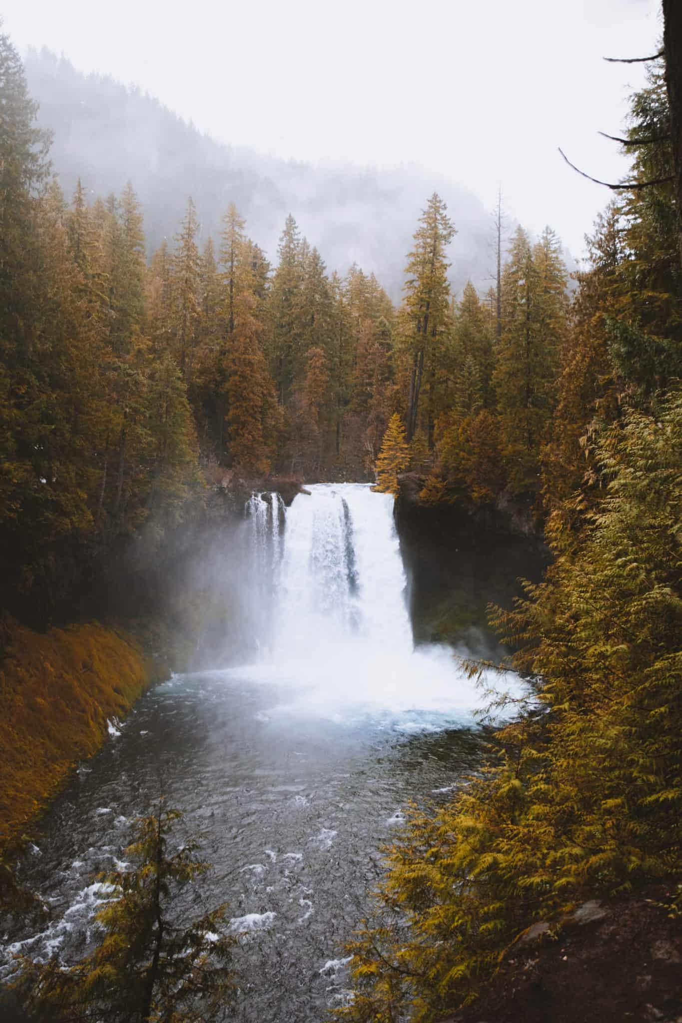 Koosah Falls, Oregon on January