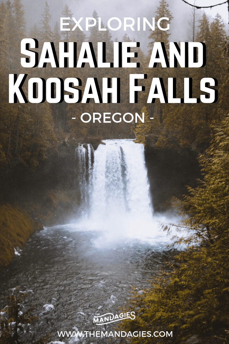Can't get enough of Oregon waterfalls? We're sharing two of our favorites, located in the Cascade Mountains in the Pacific Northwest. Read all about Sahalie Falls and Koosah Falls here for your next adventure! #oregon #waterfalls #hike #moutains #PNW #PacificNorthwest