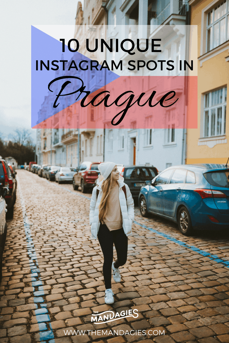 "Discover gorgeous and unique instagram spots in Prague! We're veering off the classic ""top 10 tourist locations"" blog post and giving you the most gorgeous and underrated Instagram spots in Prague, definitely worthy of your visit."