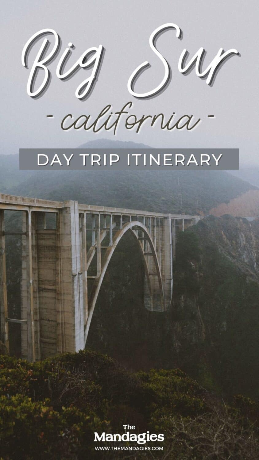 Ready to plan the best day trip to Big Sur State Park? This stunning park on the California Coast is an easy day trip from San Francisco - perfect for adventure lovers! Save this post for inspiraiton to McWay Falls   Pfeiffer Beach   Carmel By The Sea  Bixby Creek Bridge #california #pacificcoasthighway #Bigsur #Roadtrip #pacificocean #hiking #camping #sunrise #travelcalifornia #travel #USAtravel #usa #photography #sunset #PNW #pacificnorthwest