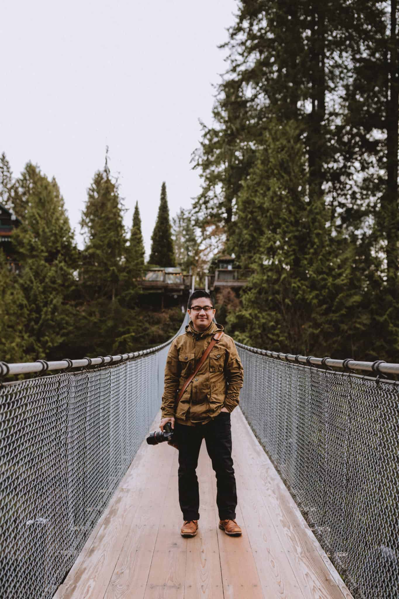 Jonathan Gipaya at Capilano Suspension Bridge Park