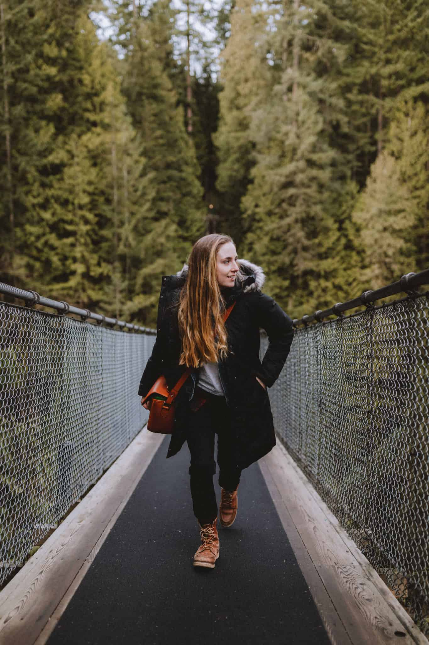 Emily at Capilano Suspension Bridge Park
