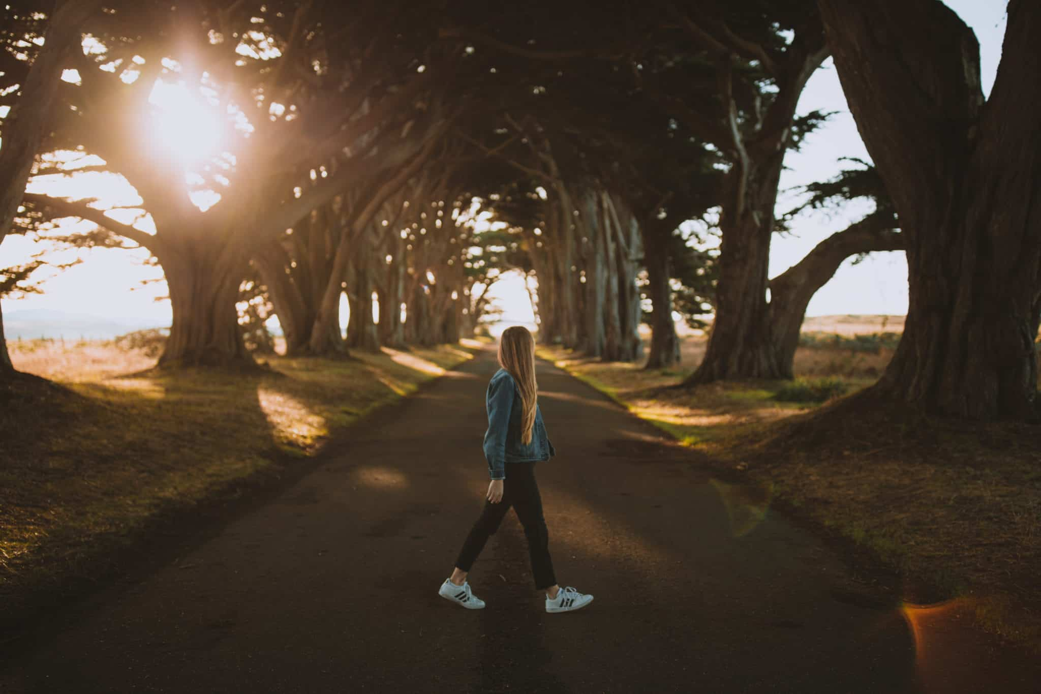 Emily at Cypress Tree Tunnel - Packing List For San Francisco Post