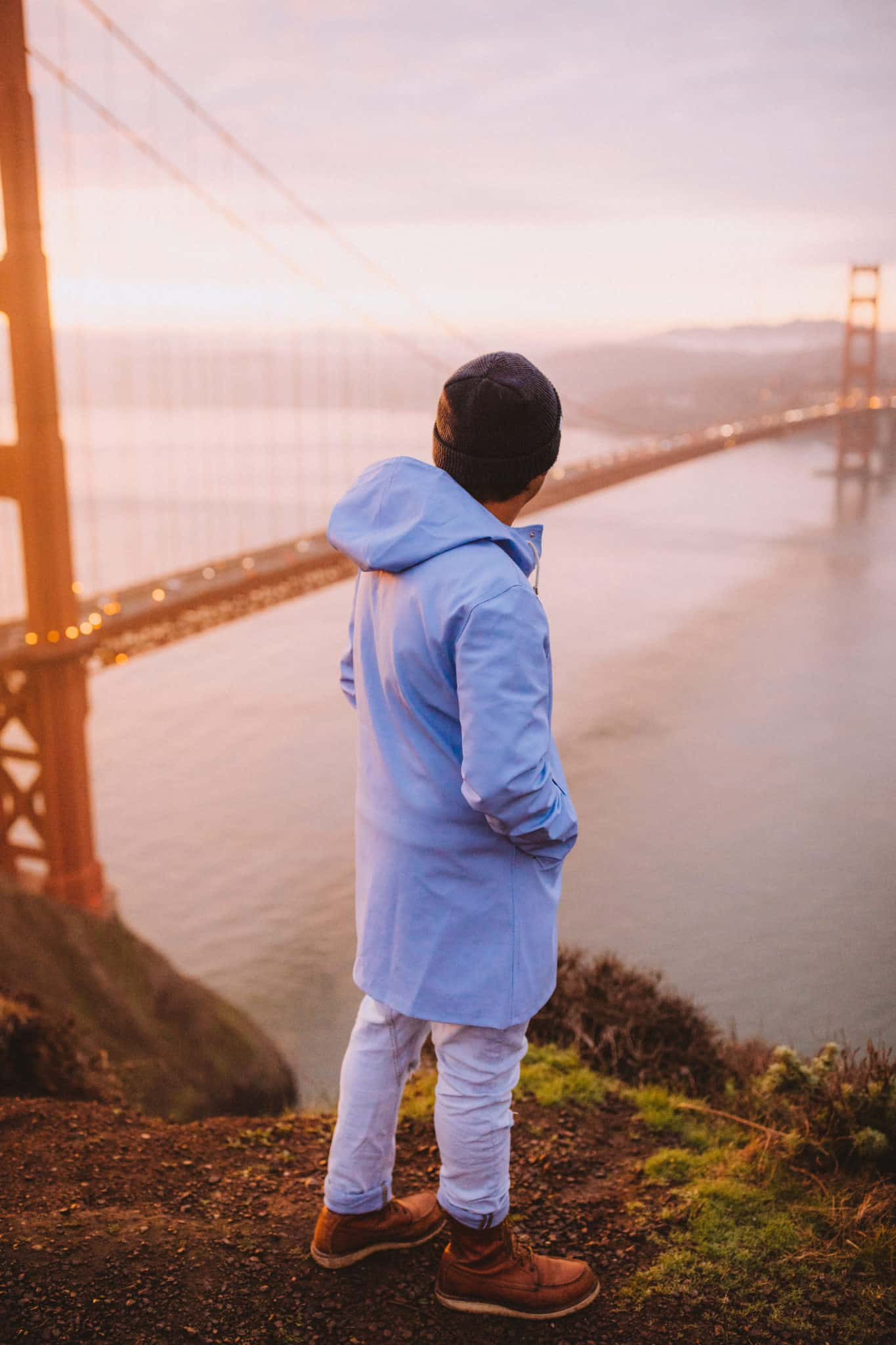 Golden Gate Bridge Blue Stutterheim Raincoat - Packing List For San Francisco Post