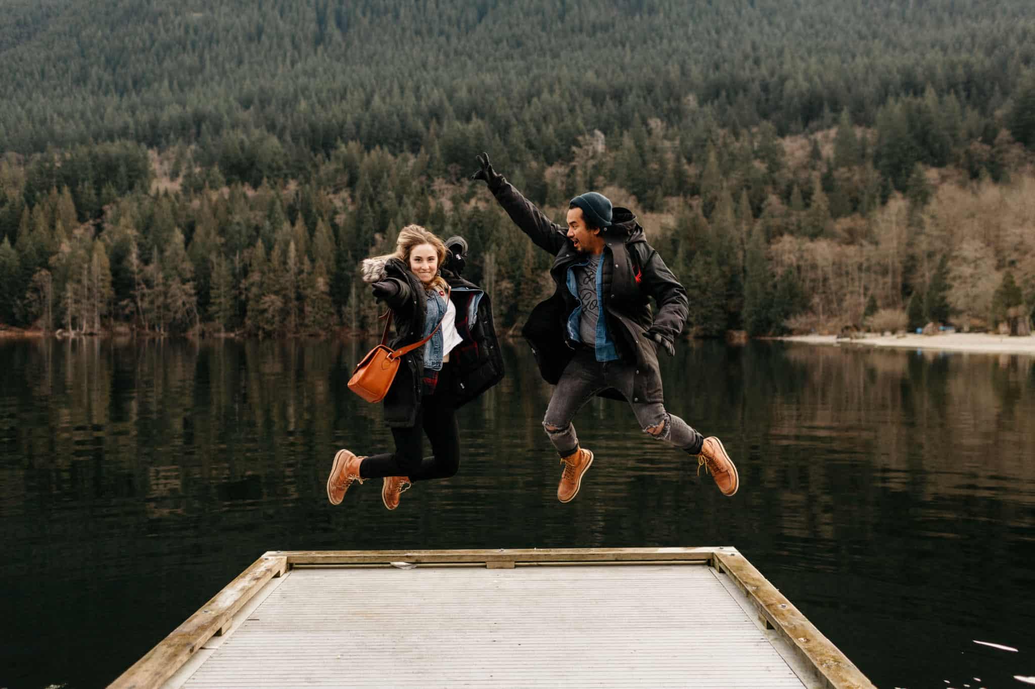 Emily and Berty at Buntzen Lake - Photo by Jonathan Gipaya