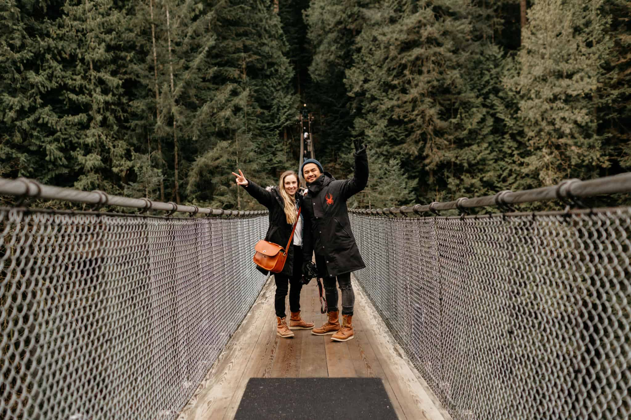 Emily and Berty on Capilano Suspension Bridge
