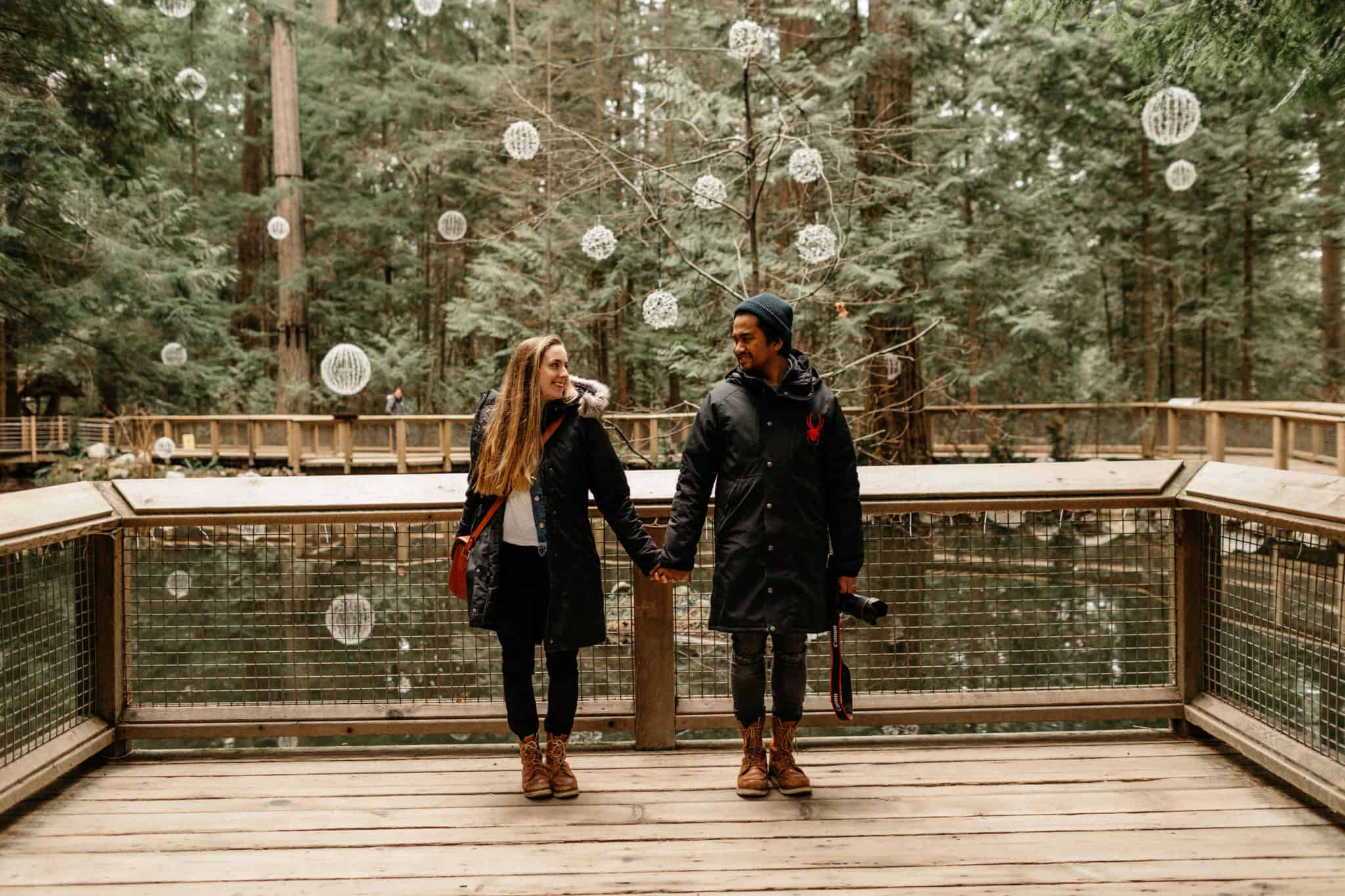 Emily and Berty at Capilano Suspension Bridge Park