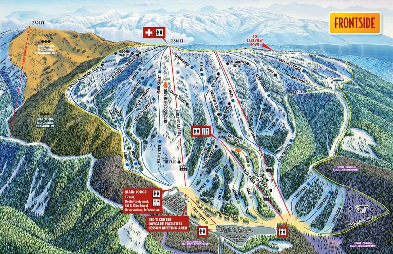Brundage Mountain Ski Map Idaho