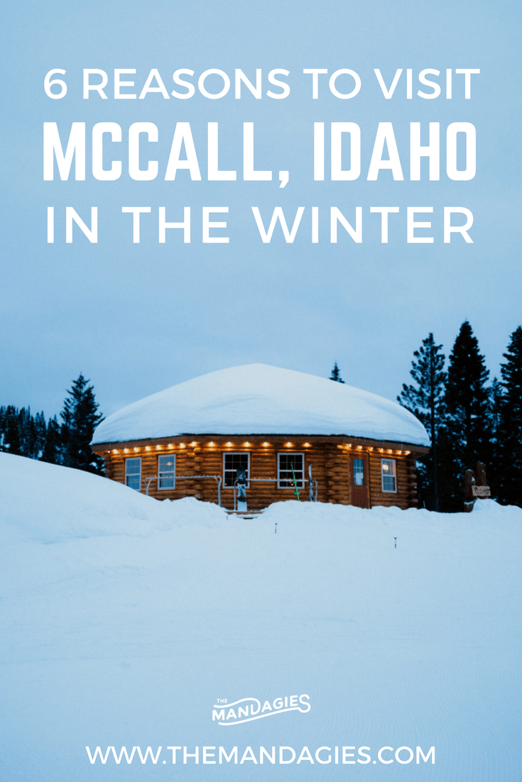 The quaint mountain town if McCall Idaho comes alive when the snow falls! In this post, we're sharing all the amazing things to do in McCall Idaho in winter, including hot springs nearby, Brundage Mountain, the best lodges in McCall, and showcasing the McCall winter carnival! Click to read more! #idaho #mccall #brundagemountain #winter #wintervacation #snowmobile #ski #snowboard #snow #snowcat