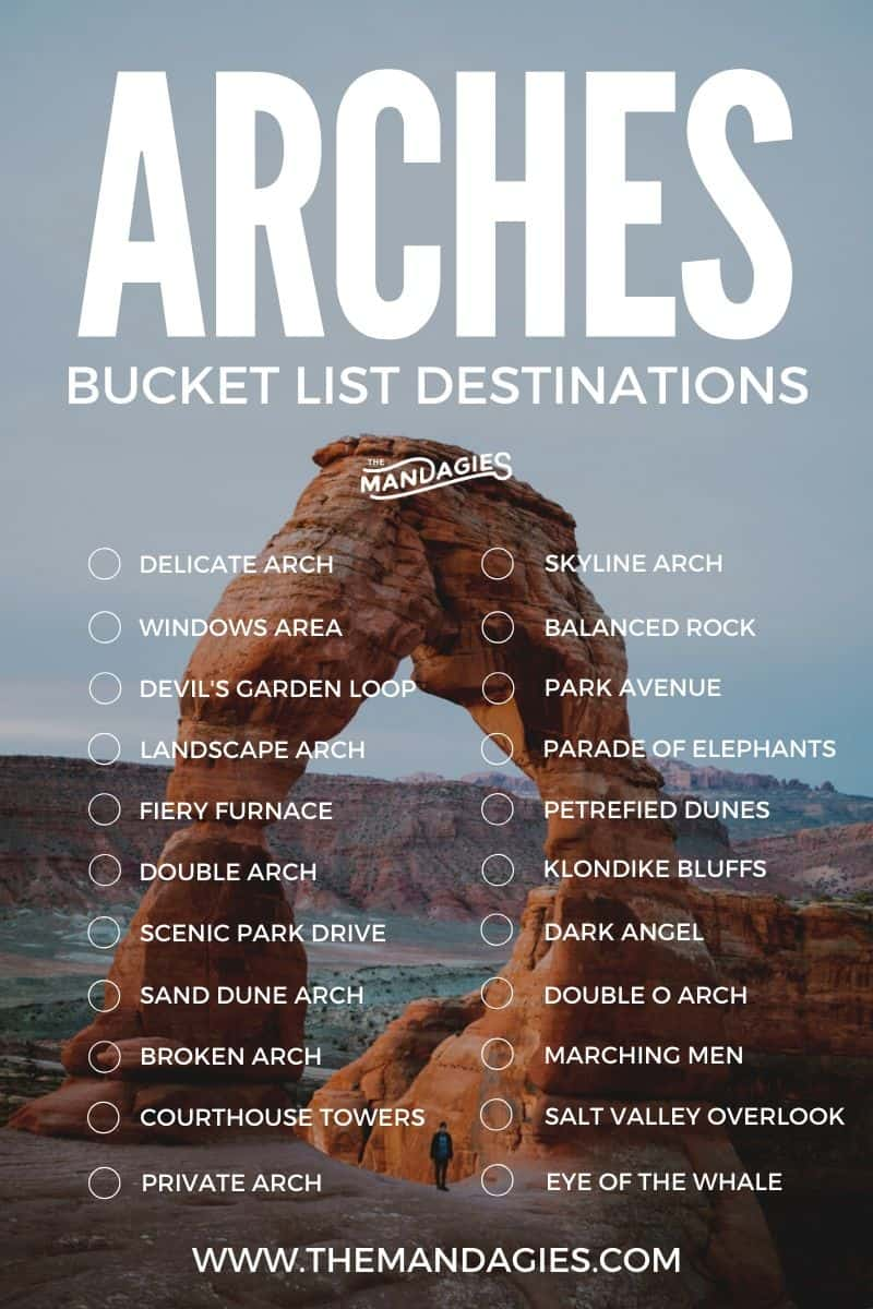 Looking for the best hikes in Arches National Park? In this post, we're sharing the best trails in the park, including Delicate Arch, Devil's Garden Loop. Courthouse Towers, and the Windows Area! Save this post for hiking inspiration in Utah! #hikes #hiking #arches #archesnationalpark #archesNPS #utah #