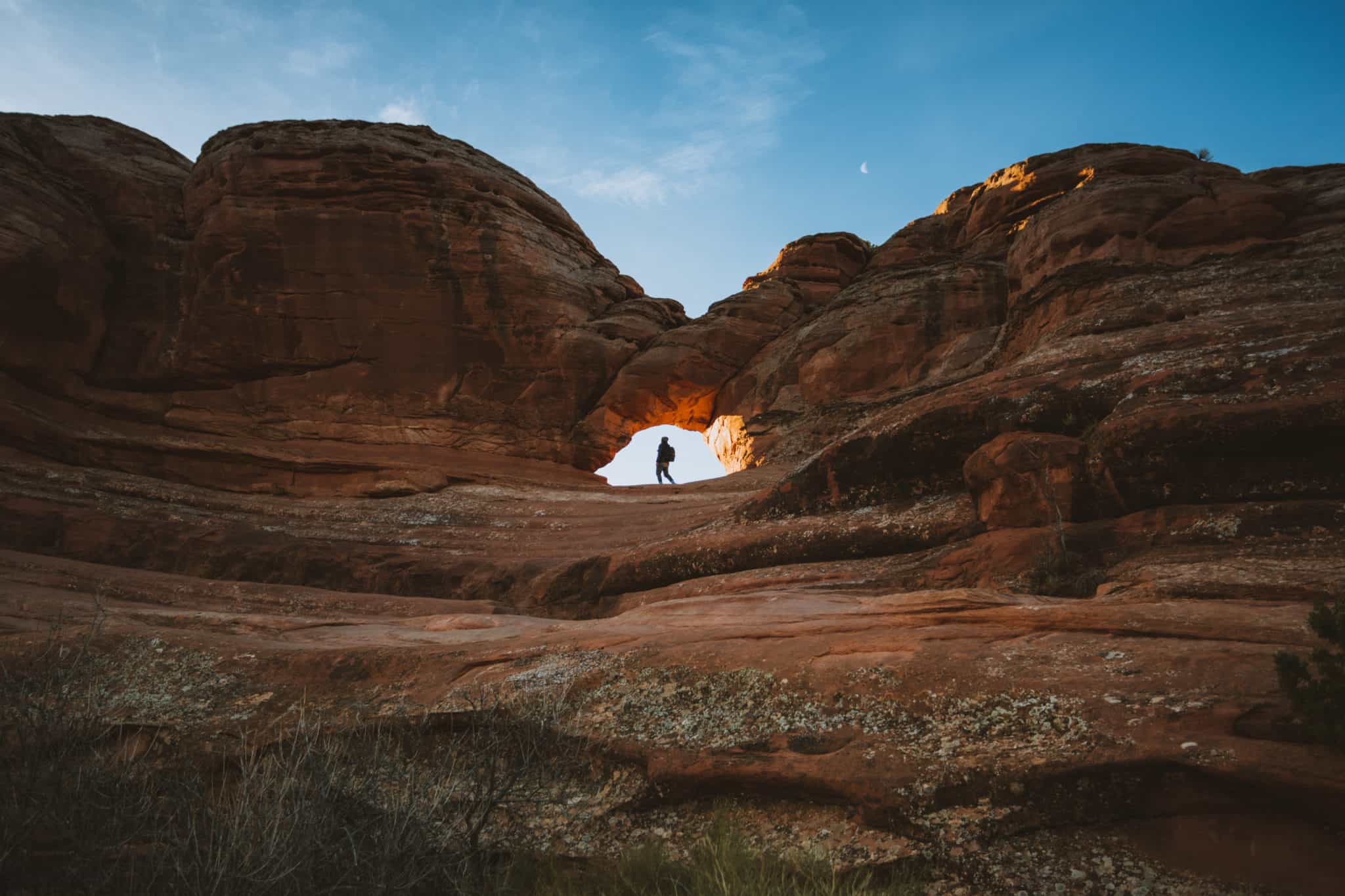 Delicate Arch Hike during sunrise