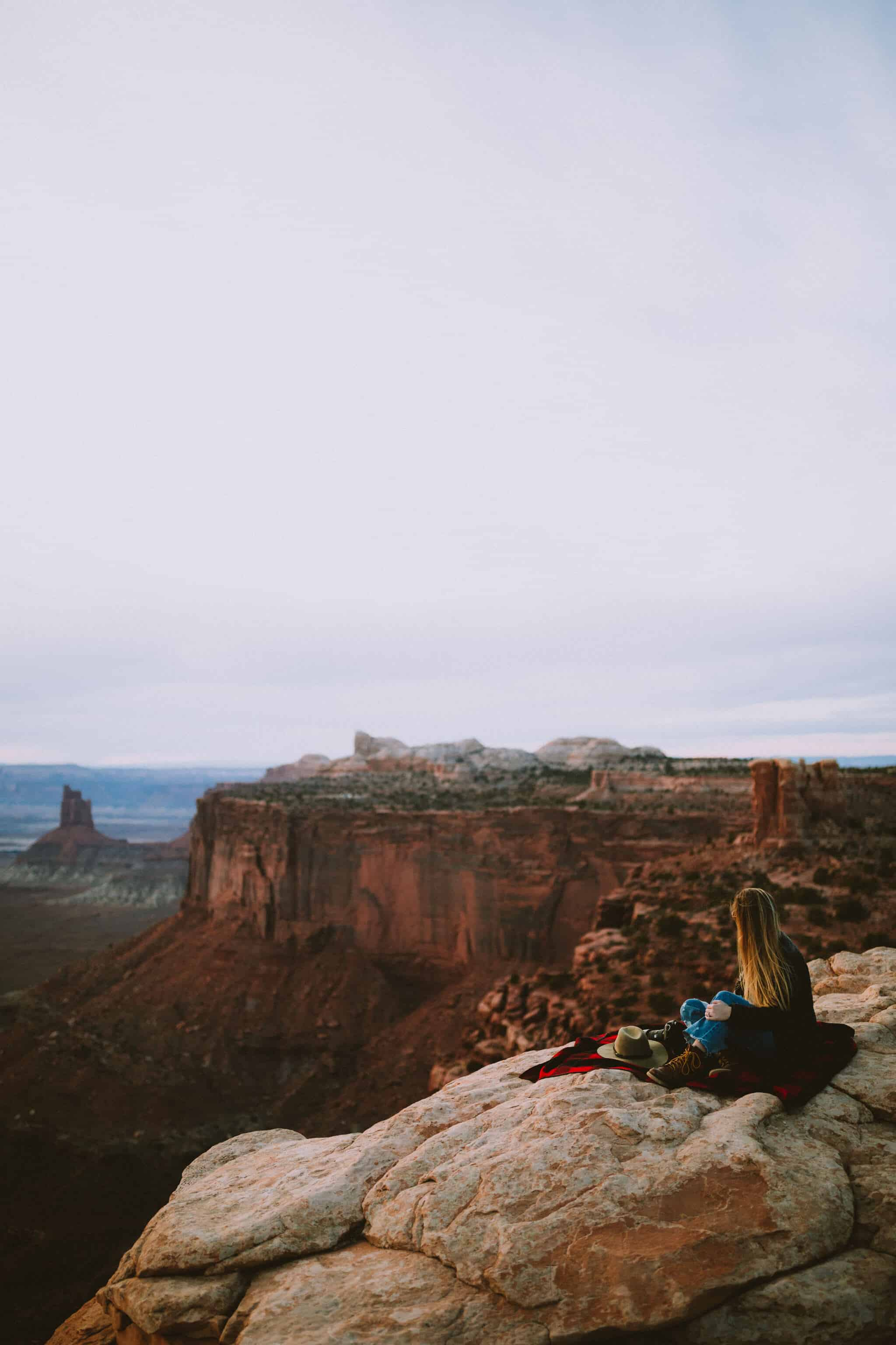 View of Candlestick Tower - Canyonlands NP - Southwest Road Trip Destination -TheMandagies.com