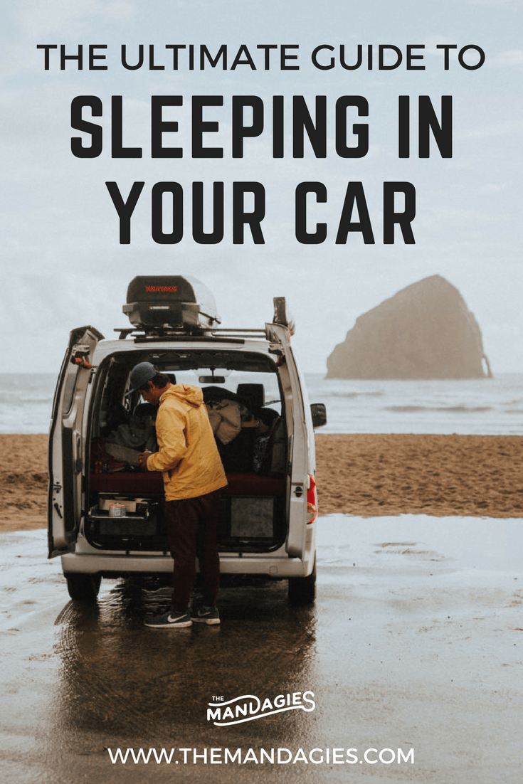 Sleeping in your car gives you the freedom to experience the open road! In this post, we're sharing all our car camping tips and tricks to help you with this important road trip step. We're talking everything from free places to sleep, what to pack, and how to stay warm! #carcamping #camping #roadtrip