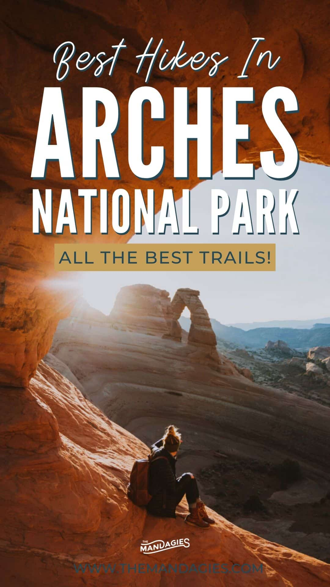 Looking for the best hikes in Arches National Park? Look no further! We're sharing the best hiking trails in Arches, including Delicate Arch, Landscape Arch, Turret Arch. The Windows Loop, Devil's Garden Loop, and so much more! Save this post for your next trip to Moab, Utah! #utah #moab #arches #archesnationalpark #delicatearch #nationalparks #hiking #photography #desert