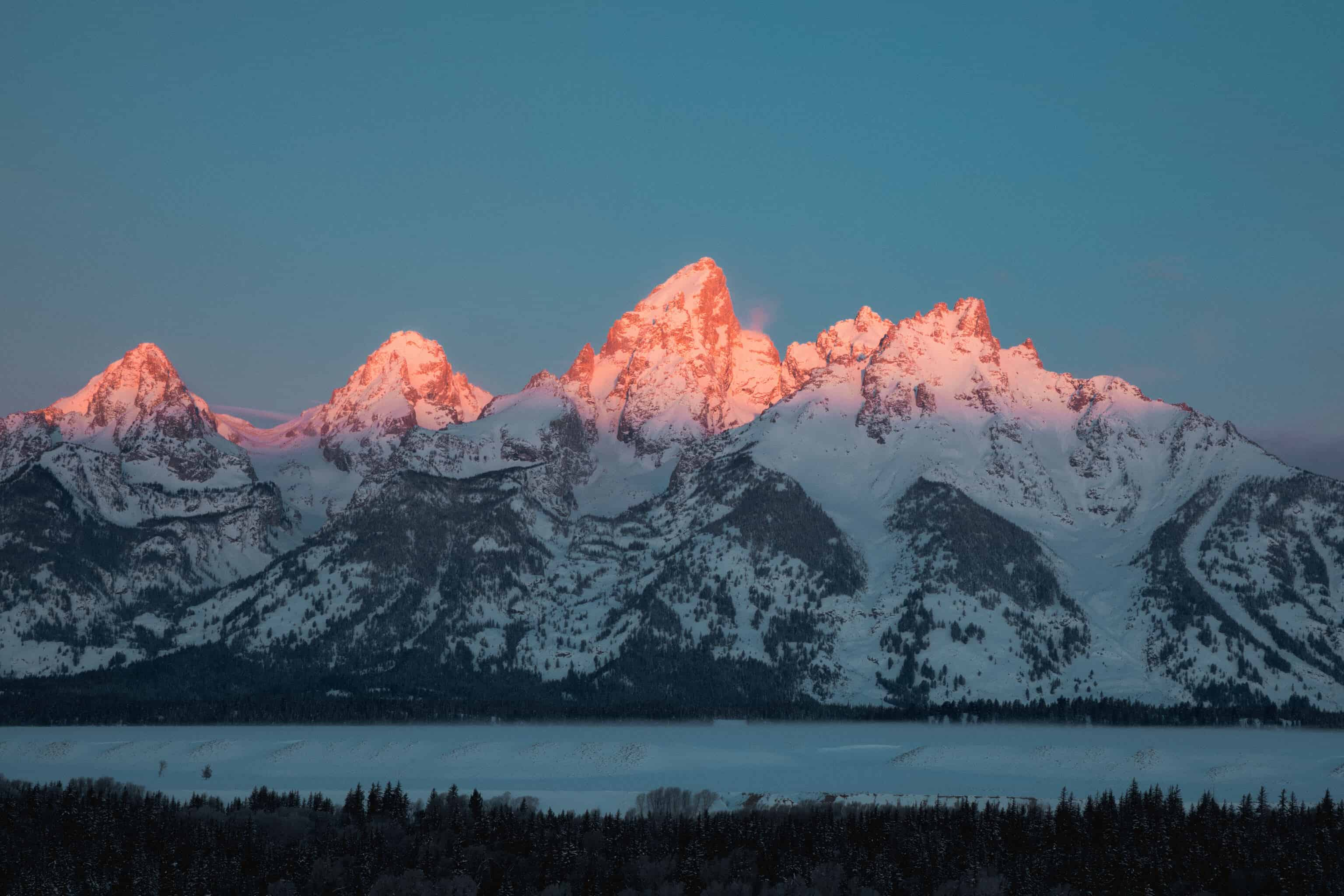 Sunrise at Grand Teton National Park - TheMandagies.com