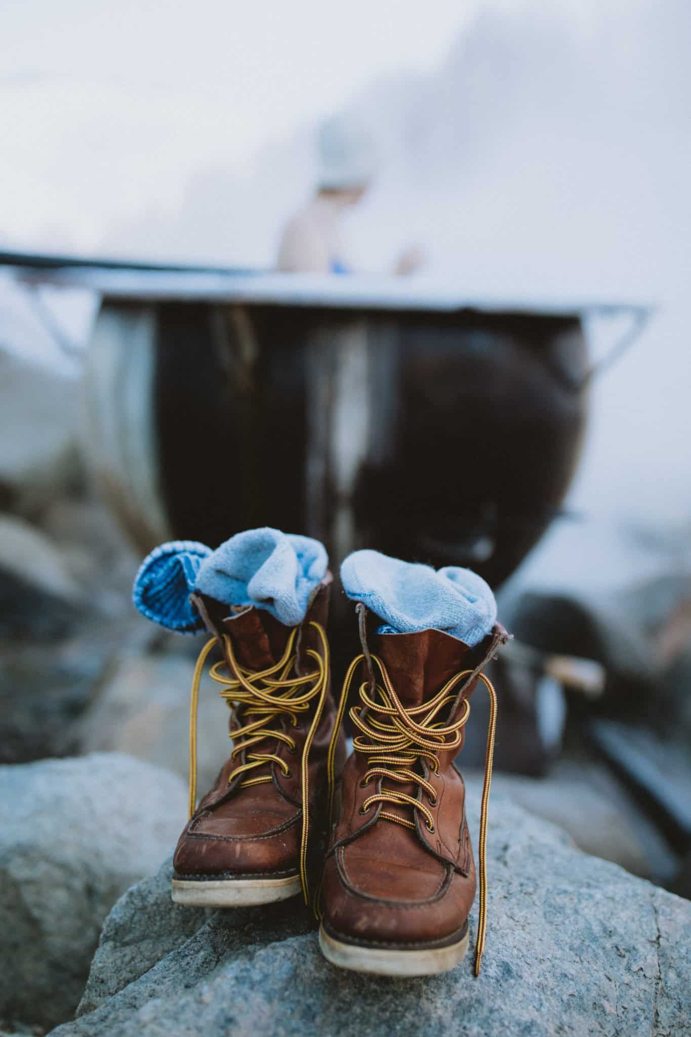 Red Wing Boots at Boat Box Hot Springs, Stanley, Idaho - The Mandagies