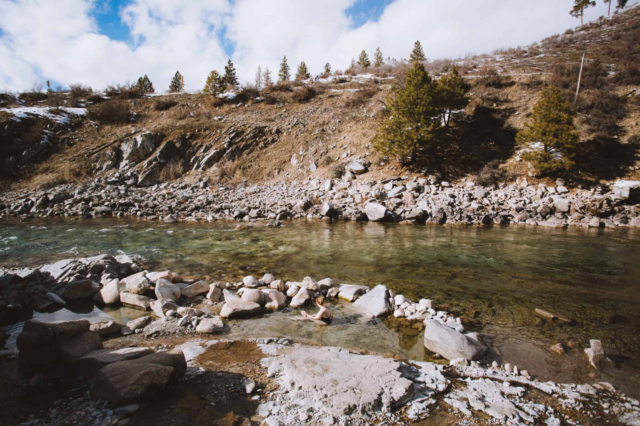 The Payette River at Kirkham Hot Springs - TheMandagies.com