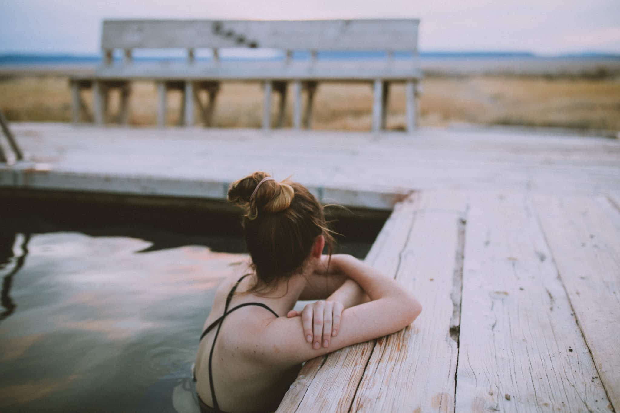 Emily at Alvord Hot Springs - Travel Photography Tips