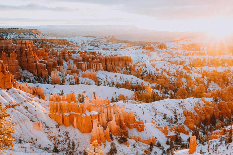 Bryce Canyon During Sunrise - Southwest Road Trip Destination -TheMandagies.com