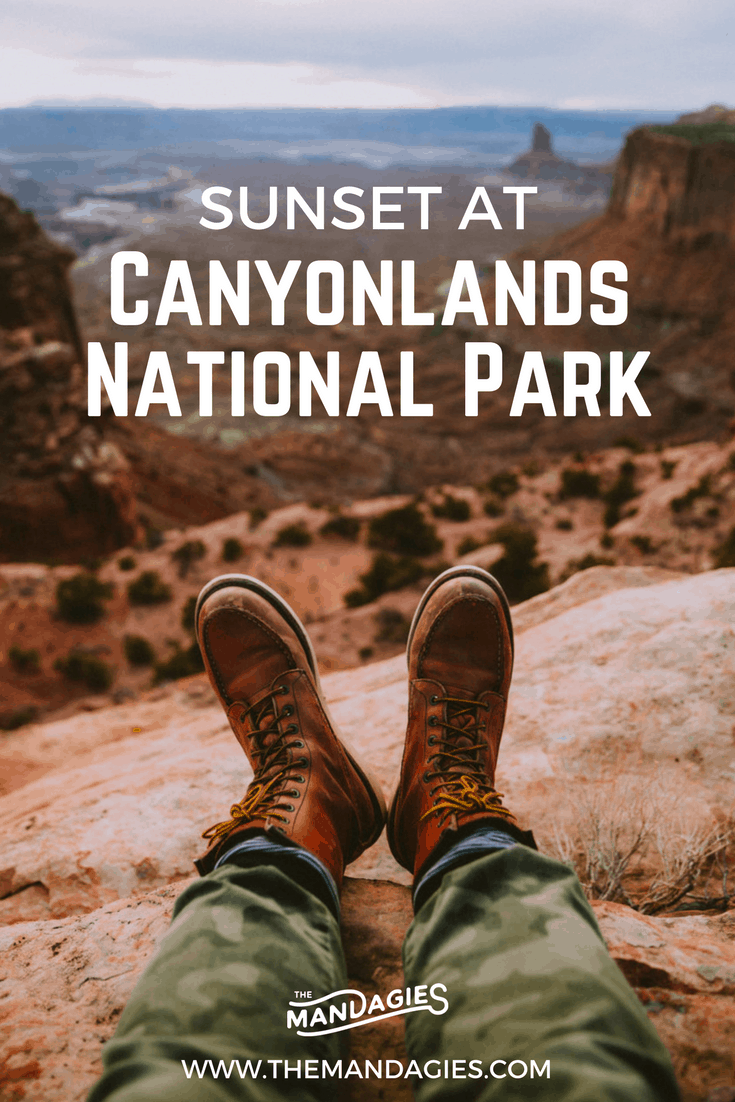 Ever wondered what a sunset would be like at Utah's Canyonlands National Park? We're sharing our experience at Candlestick Tower in this latest post. Click to find out what to expect here! #visitutah #utah #roadtrip #canyonlandsnationalpark #nationalpark