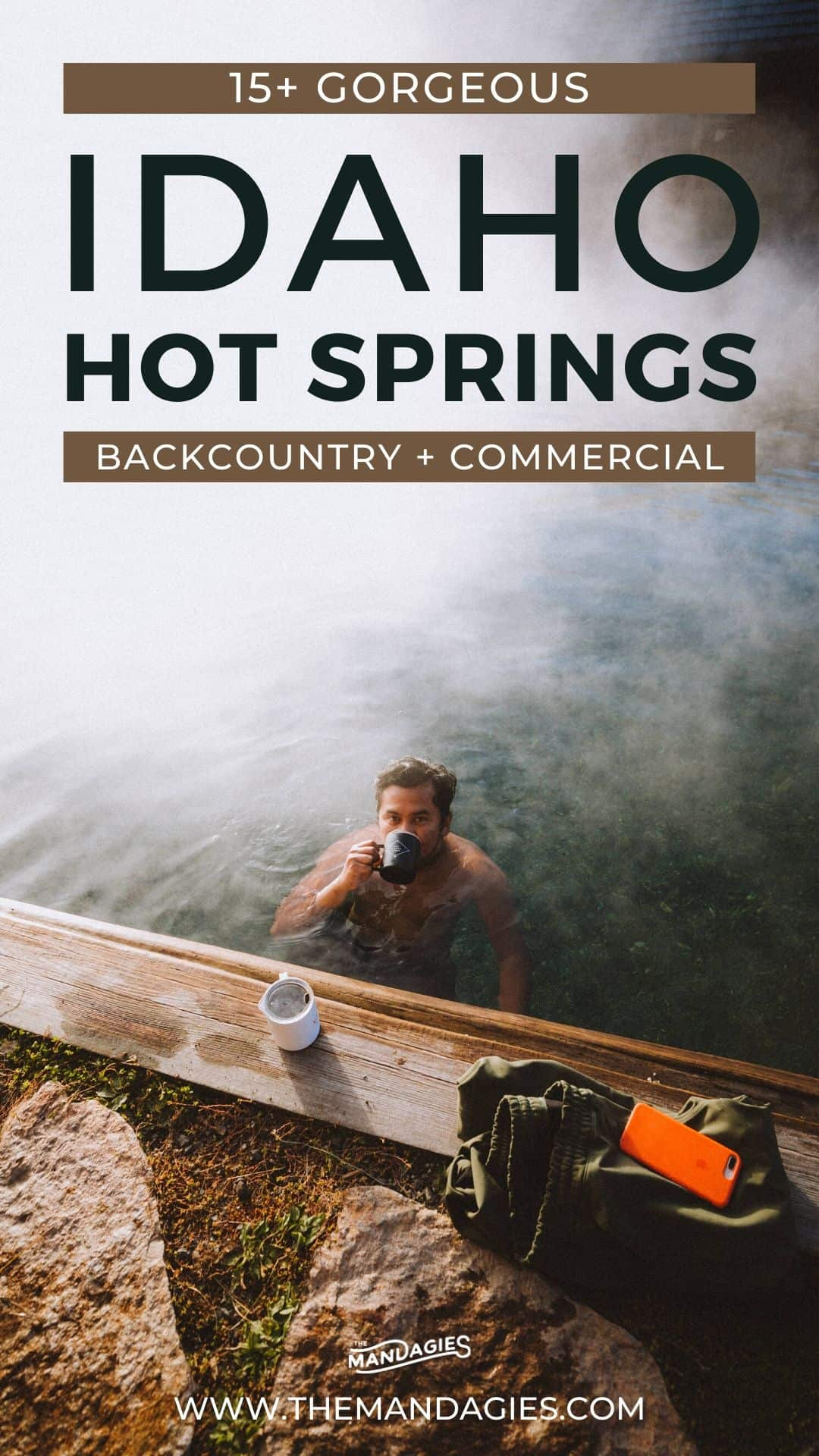 So you're searching for the best Idaho hot springs for your Idaho road trip adventure? You've come to the right places! We're sharing a bucket list of hot springs in Idaho, including a map, descriptions of the pools, and deep dives into specific locations! Save this for your next epic trip to Idaho! #idaho #hotsprings #idahohotsprings #kirkhamhotsprings #burgdorf #boise #coeurdalene #travel #adventure #roadtrip #backcountry #nature #photography